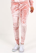 Crush Crush Baby Light Pink Velvet Lounge Set