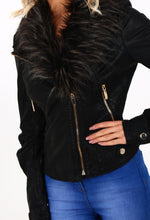 Rock Steady Black Faux Leather Biker Jacket