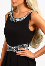 Limited Edition Decadent Black Diamante Maxi Dress