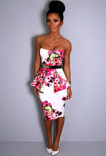 Fawnia Multicolour Floral Peplum Dress