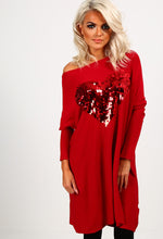 I'm Into You Red Heart Sequin Jumper