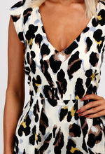 Exie Cream Leopard Print Playsuit