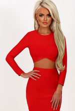 Gangsta Boo Red Wrap Front Bandage Crop Top