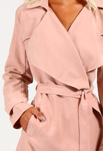 Lydia Pale Pink Peach Skin Duster Jacket