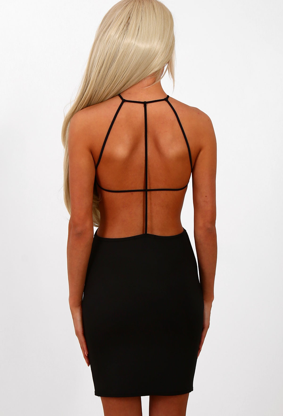 33300f8d03cb Bringing Sexy Back Black Strappy Backless Mini Dress – Pink Boutique UK