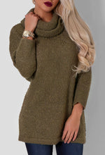 Lina Khaki Roll Neck Jumper