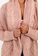Candy Darling Pink Cable Knit Cardigan