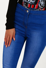 Everglow Bright Blue High Waisted Skinny Jeans