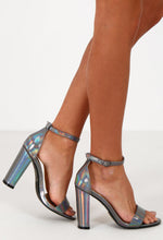 Limited Edition Dance All Night Silver Iridescent Block Heels