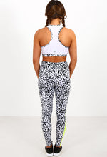 Abs For Days Monochrome Leopard Print High Neck Crop Top