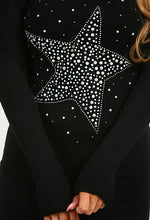 Kaitlyn Black Star Detail Jumper Dress