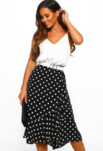 Polka Dot Midi Dress - Front View