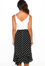 Monochrome Midi Dress - Back View