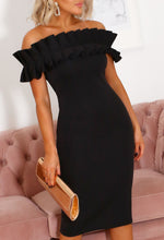 Black Bardot Scuba Dress