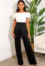 Black and White Bardot Jumpsuit