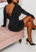 Black Lurex Dress