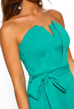 Green Structured Jumpsuit - Detail View