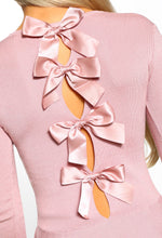 Pink Bow Back Jumper - Detail View