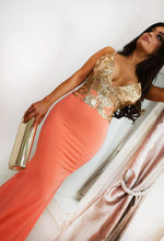 Gold and Orange Occasion Dress