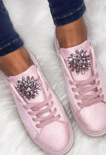 Diamante Detail Lace Up Trainers