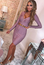 Mauve Bandage Mini Dress