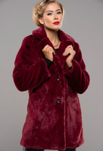 Button Up Red Fur Coat