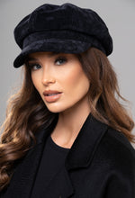Women's Black Baker Boy Hat