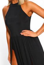 Black Halterneck Maxi Dress