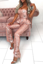 Wide Leg Sparkle Party Jumpsuit