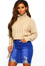 Stone Cable Knit Long Sleeve Jumper