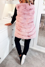 Candy Baby Pink Faux Fur Gilet
