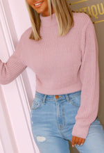 Long Sleeve Pink Knitted Jumper