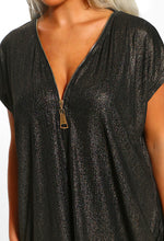 Zip Front Tunic Top - Detail View