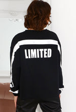 Black Slogan Sweatshirt