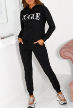 Black Hoodie Two Piece Set