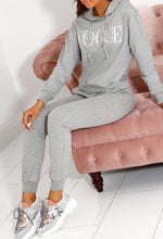 Grey Slogan Tracksuit