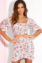White Floral Co-ord