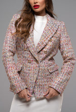 Beige Tweed Blazer Women's