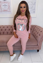 Pink Knit Loungewear Set