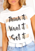 White Motivational Quote T-Shirt