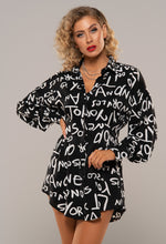 Graffiti Print Shirt Dress