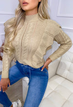 Taupe Frill Knit Jumper