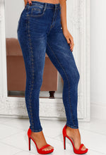 Daphne Gold Chain Leg Denim Jean