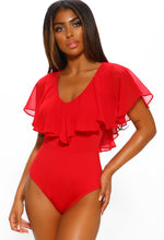 Red Soft and Stretchy Bodysuit