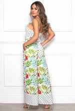 Monochrome Leopard Print Dress