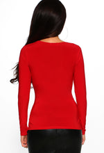 Slinky Long Sleeve Top Back View
