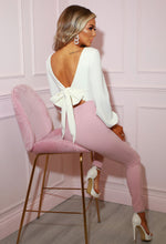 Bow Back Blush Pink Jumpsuit - Campaign Image