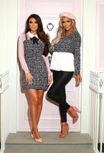 Here We Bow Again Blush Peplum Jumper with Bow Detail