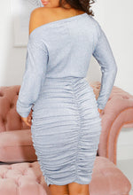Ruched Bum Midi Dress