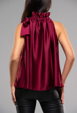 Halterneck Satin Top